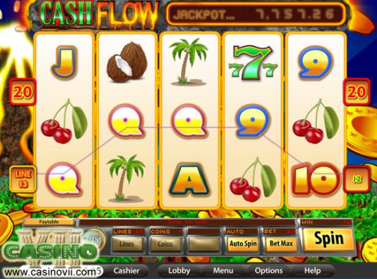 Cash Flow screen shot