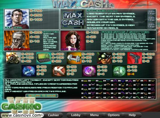 Max Cash screen shot