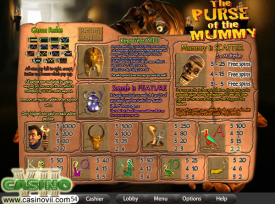 Purse of the Mummy screen shot