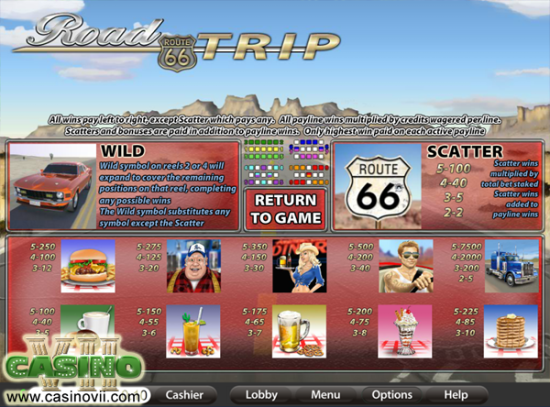 Road Trip screen shot